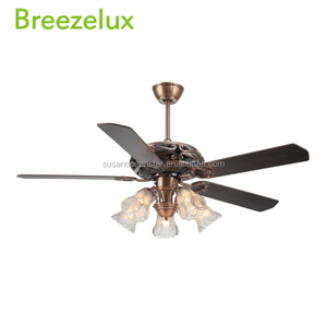 Good quality vintage air cooling type ceiling fan glass lampshade Chandeliers