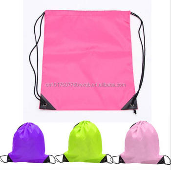 promotional bag company logo customized nylon Canvas Cotton Drawstring Bag cc5e61197f5d