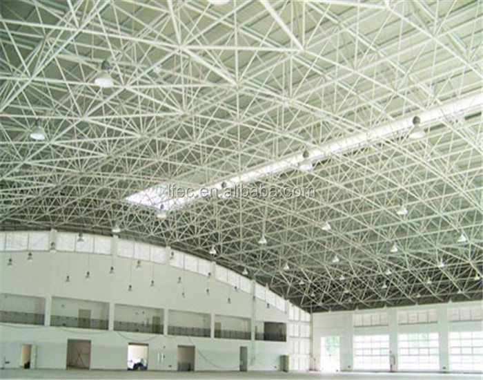 Steel Space Frame Structure Low Cost Prefab Warehouse