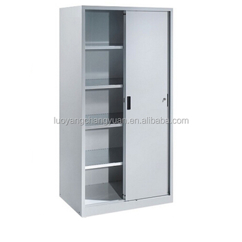Quick Delivery Low Price 2 Sliding Door Filing Cabinet Office File Rack