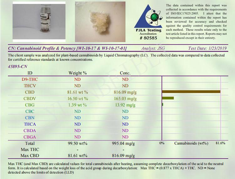 Изготовитель поставляет сыпучий конопли каннабидиол КБР 99% изолировать экстракт порошок