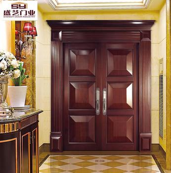 3d Craft Bread Door Design Double Wood Doors For Commercial Buy