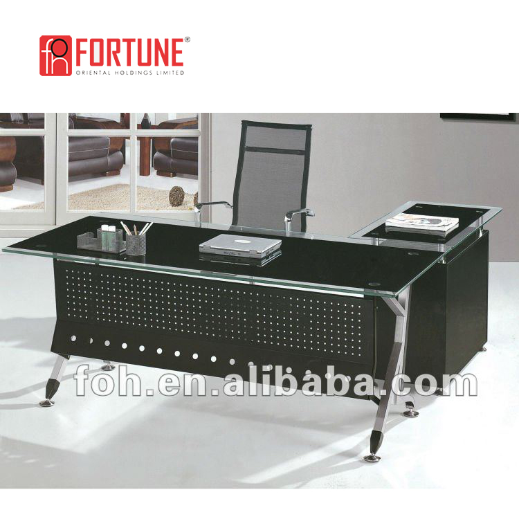Colors Optional Modern Tempered Glass Office Desk Office Furniture   Buy  Tempered Glass Office Desk,Modern Glass Desk Office Furniture,Modern Glass  ...