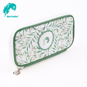 High Level Pu leather Pencil Case Zipper Pencil Bag For Office and School