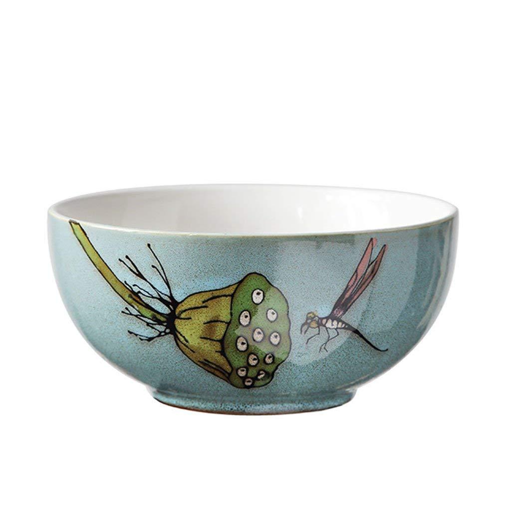 Noodle Bowls Ceramic Rice Bowls Soup Bowls Pasta Bowls Bowls blue glaze Pattern 7in