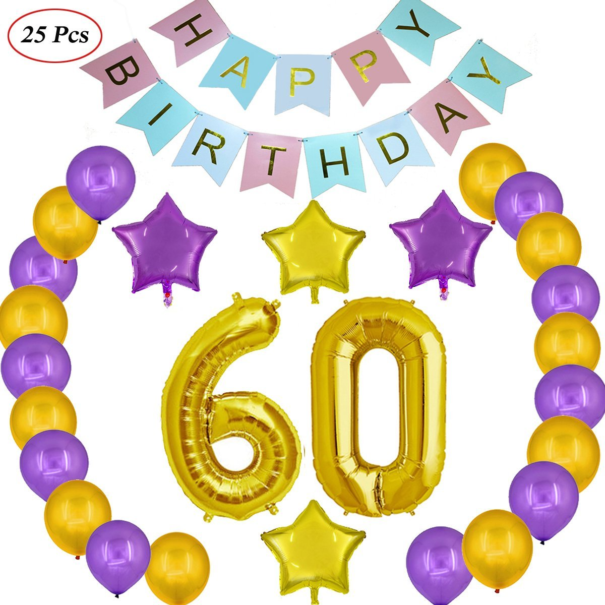 Get Quotations Echolife 60th Birthday Party Decorations Kit