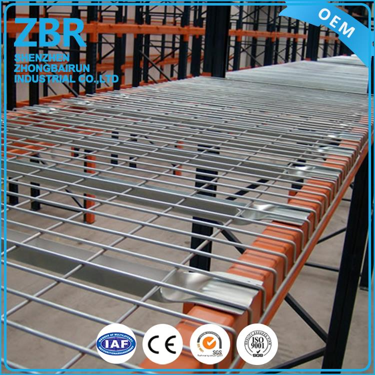 Long span useful storage deck galvanized flare steel mesh wire decking for pallet rack