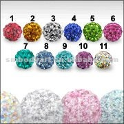 Crystal stone Ball Fixed in Ferido Glue For Body Piercing Jewelry-SMPA019