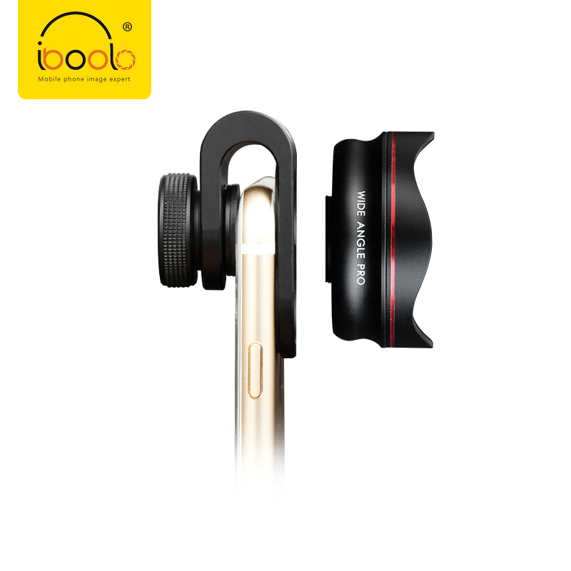 IBOOLO Clip on mounting smartphone lens 18MM no distortion PRO Wide Angle Lens for smart phone