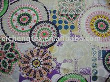 100% cotton printed silk lawn/voile ladie fashion shirt fabric voile fabric india