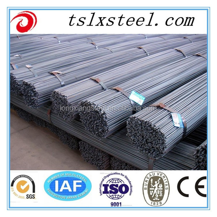 Hebei Tangshan steel rebar, deformed steel bar, iron rods for construction