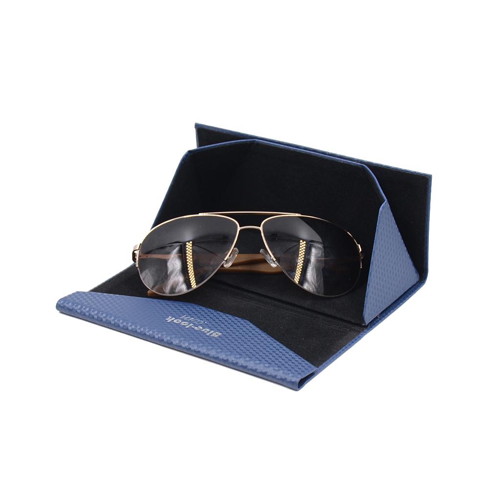 Wholesale custom luxury triangle folding sunglasses case with handmade eye glasses case фото