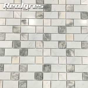 Bathroom And Kitchen Marble Stone Backsplash Polished Athens Grey Mosaic Tile