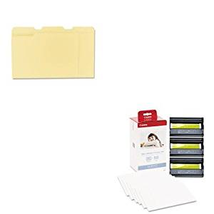 KITCNM3115B001UNV12113 - Value Kit - Canon KP-108IN Color Ink Ribbon w/Glossy 4 x 6 Photo Paper Pack (CNM3115B001) and Universal File Folders (UNV12113)