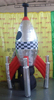 Custom!!!4m promotional inflatable rocket/silver/inflatable rocket for promotional/inflatable rocket model W759