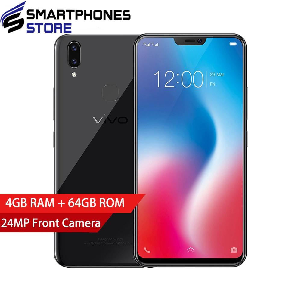 "Global Version VIVO V9 Mobile phone Snapdragon 626 Octa-core 4GB RAM 64GB ROM Full Scree 6.3 Dual Rear Camera 4G LTE CellPhone"""