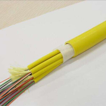 Indoor Fiber Optic Cable factory supply 48 core Single mode PVC Sheath  Indoor Fiber Optic Cable GJFJV fiber cord cable price