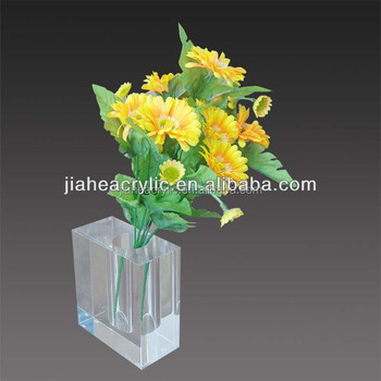 Customized Acrylic Flower Vase Handmade Designs Transparent Clear