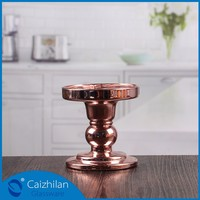 silver plated long stem candle holder cup