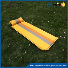 Inflatable travel camping bed high quality comfortable massage pvc plastic single air mattress