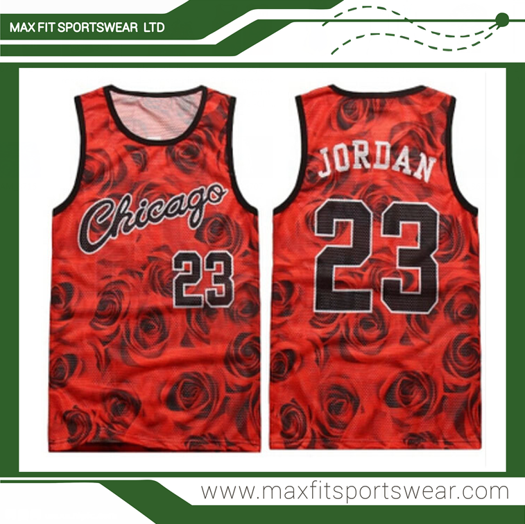 High quality cool design full sublimation print youth basketball jersey cheap