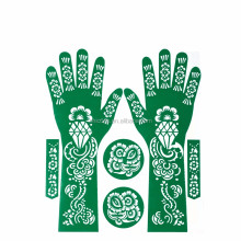 2017 new wholesale Dubai Arab Mideast hand drawing hollow reusable stencil henna tattoo kit