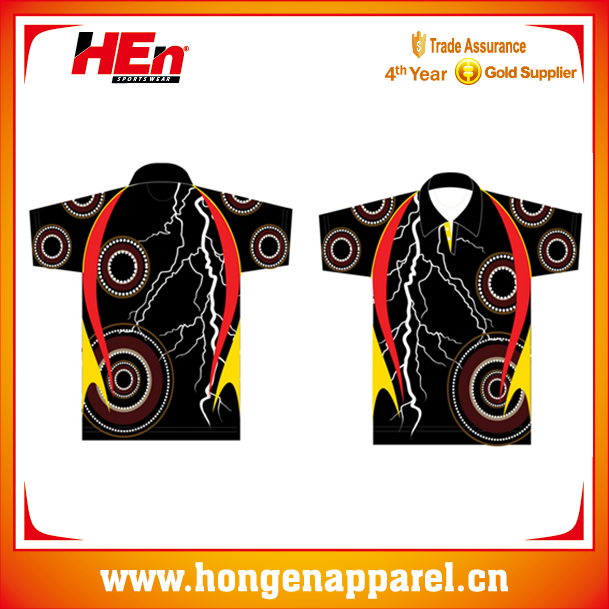 Free Sample Sublimated Printing Aborigines Polo Shirts Australia