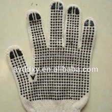 HIGH quality cotton gloves with PVC dots