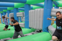 Hot Gaint Inflatable Obstacle Course Race , Inflatable Obstacle Course Series No.2 Bust On Thru