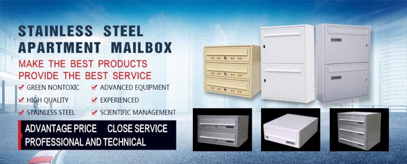 Outdoor stainless steel waterproof mail box