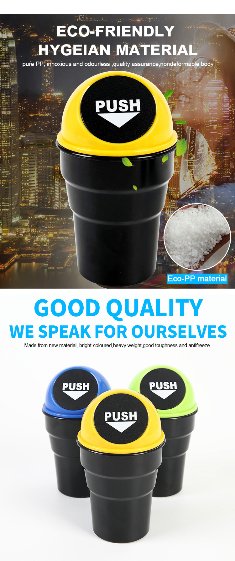 Residential Plastic Mini Car Recycling Bin, Recycling Bin/