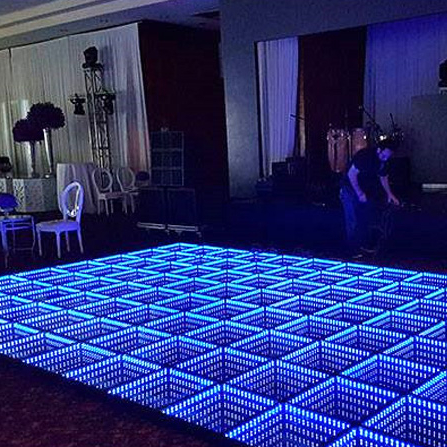 Bruiloft 3D LED Light Up Draagbare Oneindige Dance Floor