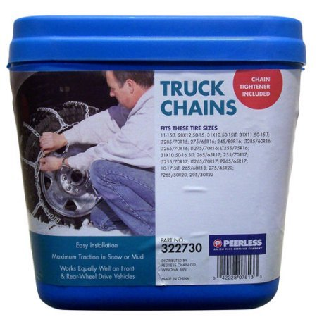 """Peerless Truck Tire Chains with Rubber Tighteners #322730, The Rubber Tire Chains Are Designed For Heavier Service Duty Than The """"2200"""" Series"""
