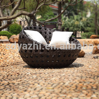 Outdoor Round Lounge Sofa Bed Hotel Style And New Design 2017