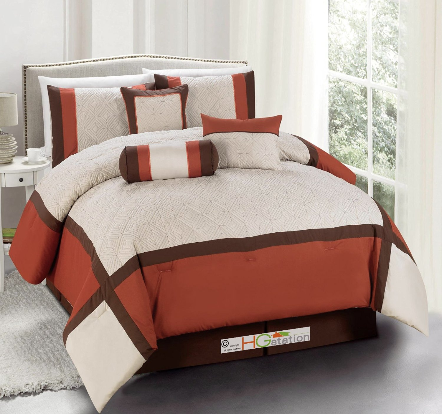 walmart mainstays multiple ip plus sizes in bed grey bedding a com comforter set piece rust bag plaid red