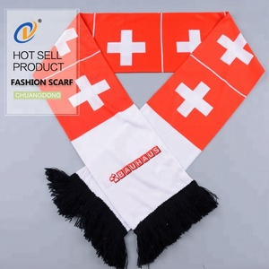 free sample new design high quality fans factory Bolisi polyester custom printing knitting football scarf