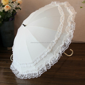 2018 new products high quality chinese productslace umbrella wedding umbrella white umbrellas for weddings