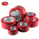 Red Christmas Small Round Biscuit Tin For Customization