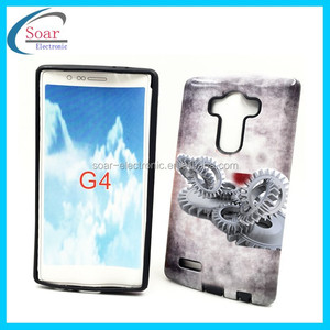 New product mens pattern gummy combo for Lg G4 mobile case