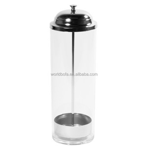 Wholesale clear glass plastic drinking straw dispenser