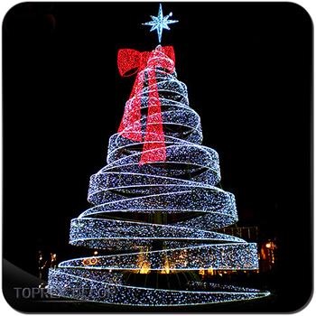Metal spiral christmas tree led motif rope light - Metal Spiral Christmas Tree Led Motif Rope Light, View Metal Spiral