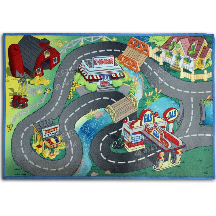 Kids Giant City Playmat Floor Play Mat For Toy Cars Road