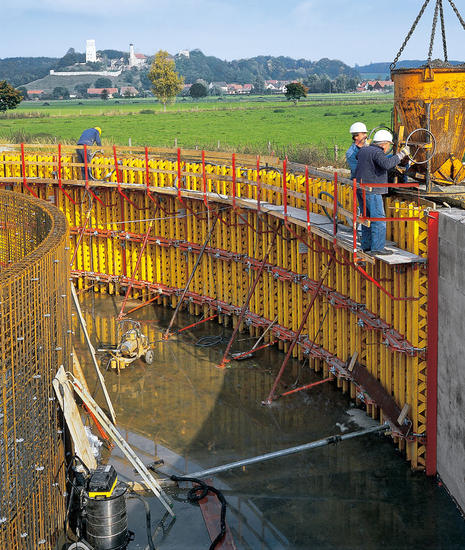 construction walls convetional formwork curved concrete forms