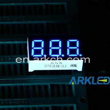 Blue 7 Segment Led Display Common Cathode - 3-digit - Ships Fast ...
