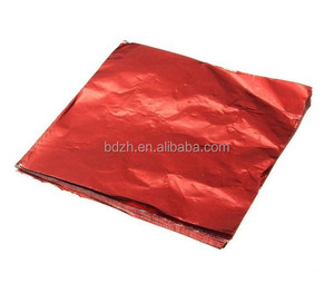 red printed aluminum foil paper for wrapping chocolate