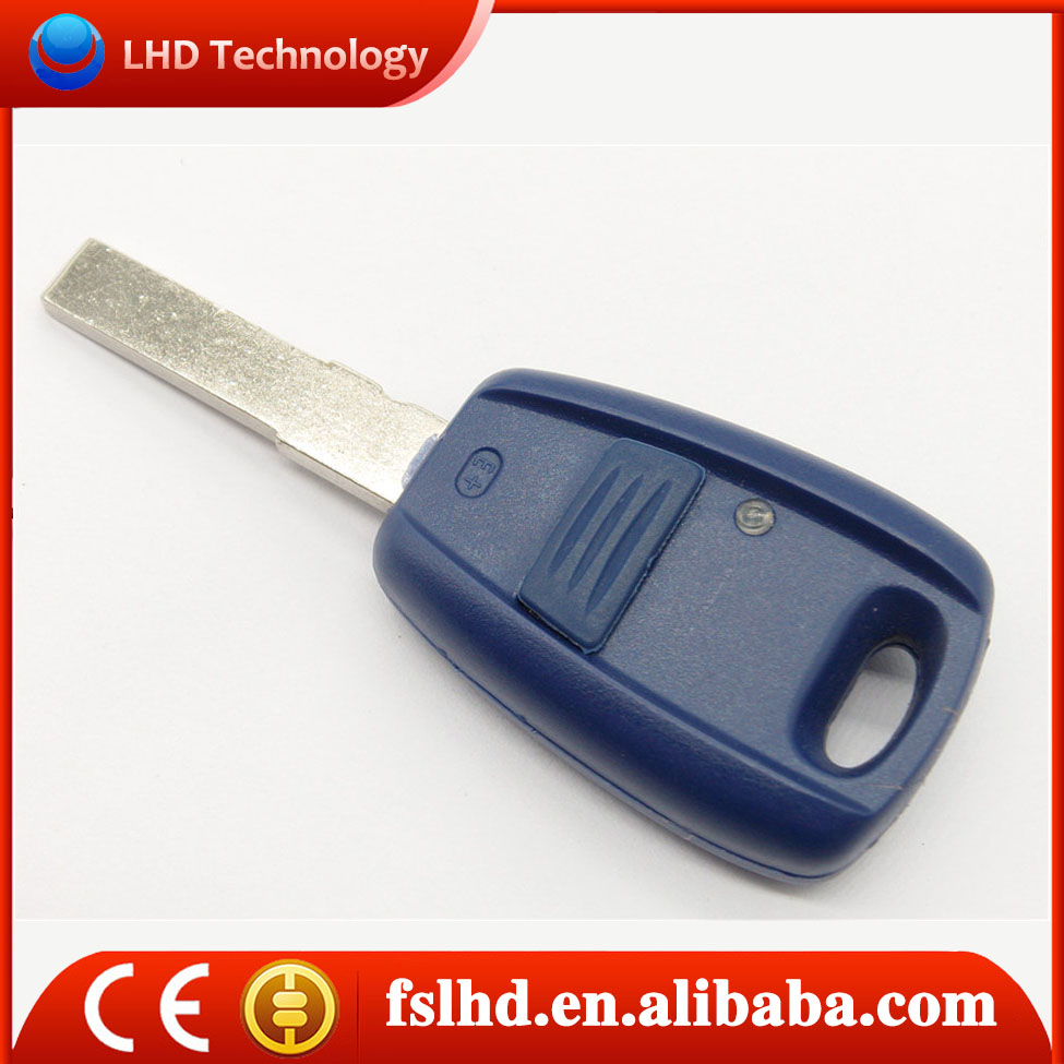 New product car key Fiat replacement 1 button remote key shell in blue