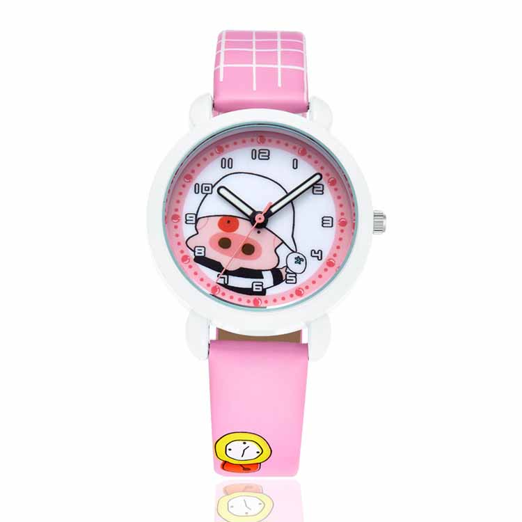Hot fashion custom kids watch faces and leather strap new-kids watches