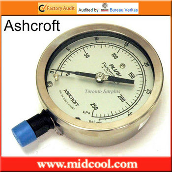 100% Autentico ashcroft manometro