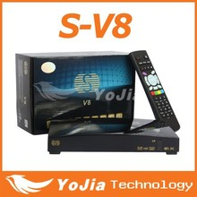 V8 Digital Satellite Receiver S V8 S-V8 Support WEBTV Biss Key 2x USB Slot USB Wifi 3G Youporn CCCAMD NEWCAMD