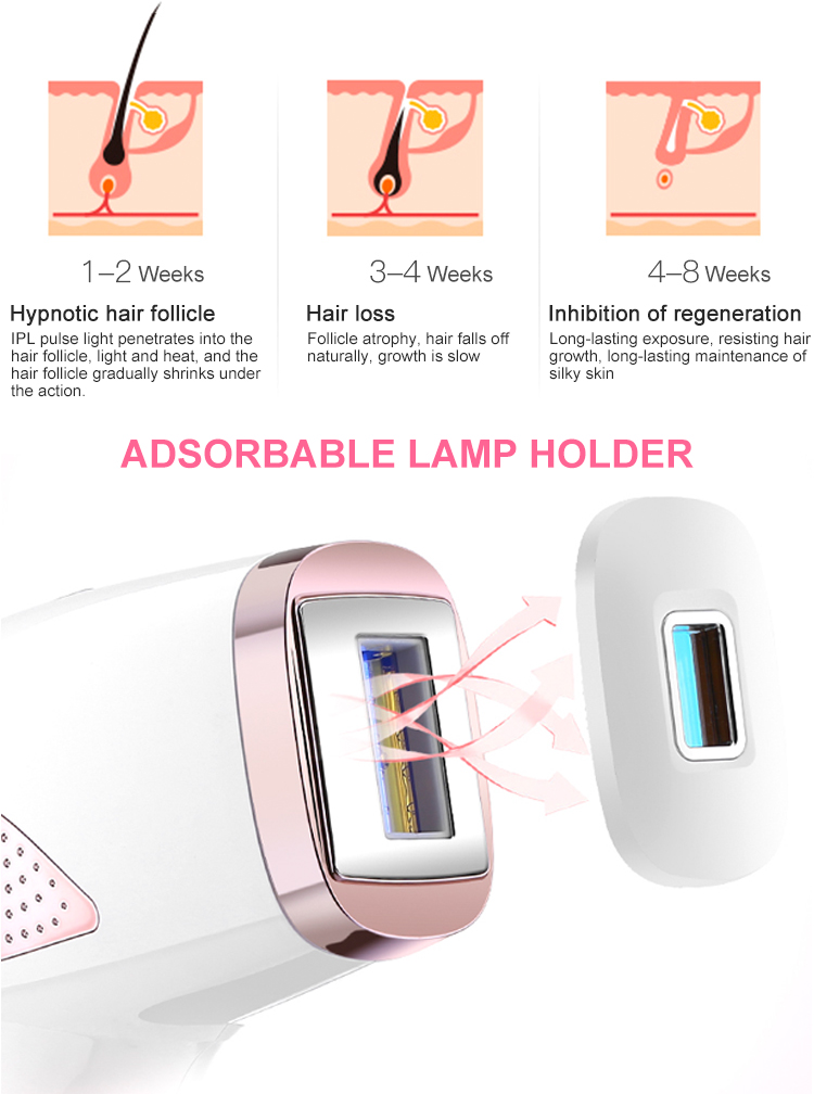 Rechargeable ice laser ipl hair removal machine